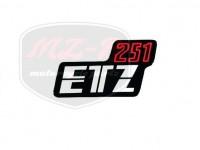 ETZ 251 SCHRIFTZUG FOLIE 251