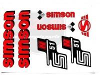 SIMSON 51 SCHRIFTZUG FOLIE SATZ N51 ROT