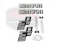 SIMSON 50 SCHRIFTZUG FOLIE SATZ S50B SILBER