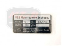 ETZ 250 TYPSCHILD /ETZ250/