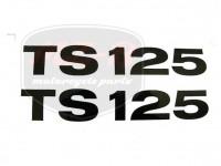 MZ/TS 125 SCHRIFTZUG FOLIE PAAR