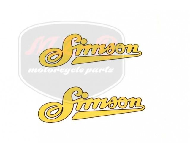 """SIMSON SR2 SCHRIFTZUG FOLIE """"SIMSON"""" PAAR"""