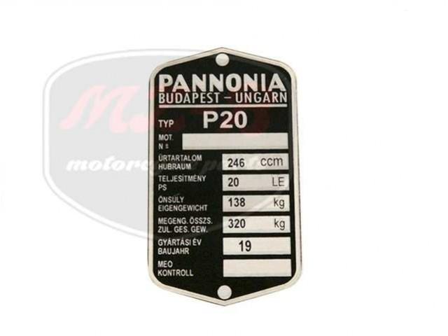 PANNÓNIA P20/21 TYPSCHILD /P20/