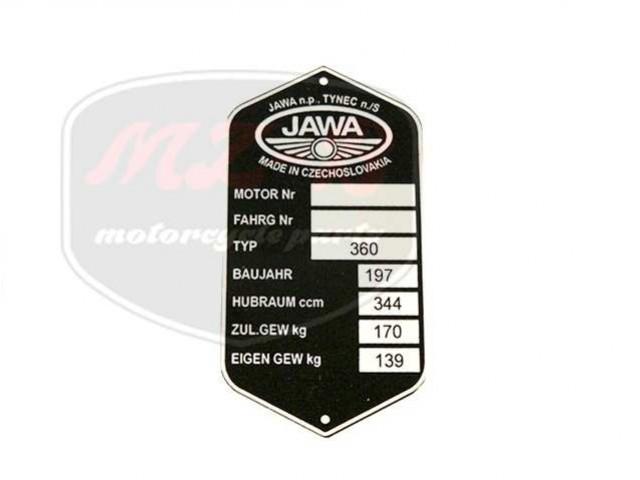 JAWA 360 TYPSCHILD /360/