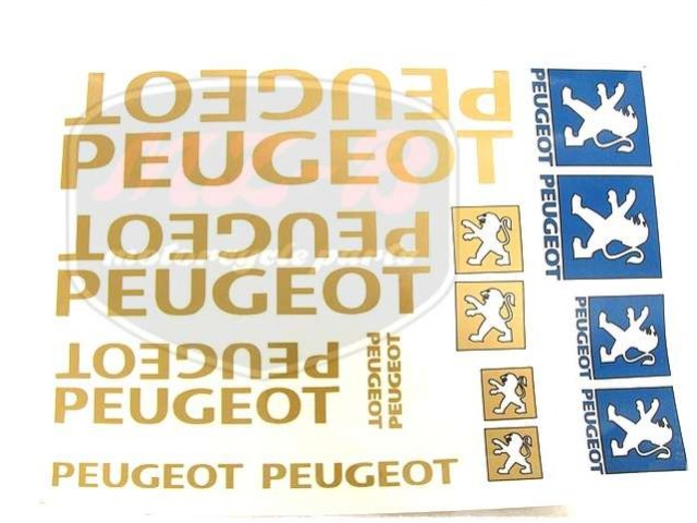PEUGEOT UNIVERSAL SCHRIFTZUG FOLIE SATZ PEUGEOT GROß /GOLDEN/
