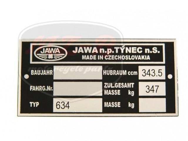 JAWA 350  6V TYPSCHILD /634/