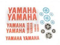 YAMAHA UNIVERSAL SCHRIFTZUG FOLIE SATZ YAMAHA ROT