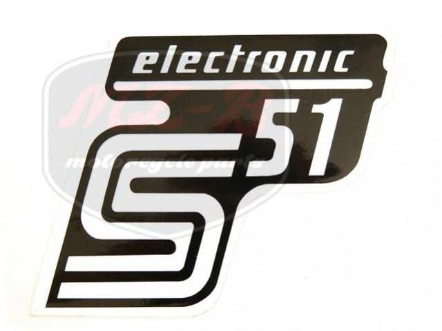 SIMSON UNIVERSAL SCHRIFTZUG FOLIE S51 ELEKTRONIC /SILBER/