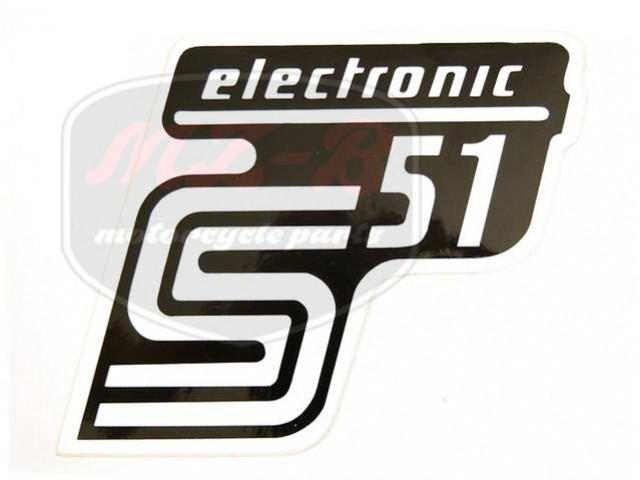 SIMSON UNIVERSAL SCHRIFTZUG FOLIE S51 ELEKTRONIC /WEIß/