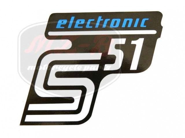 SIMSON UNIVERSAL SCHRIFTZUG FOLIE S51 ELEKTRONIC /BLAU/