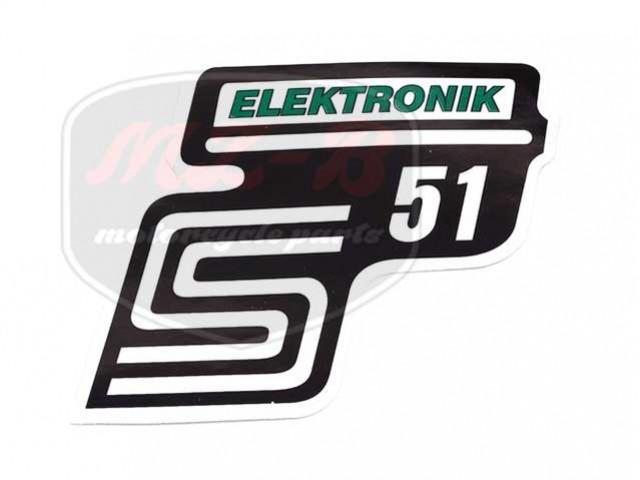 SIMSON UNIVERSAL SCHRIFTZUG FOLIE S51 ELEKTRONIC /GRÜN/