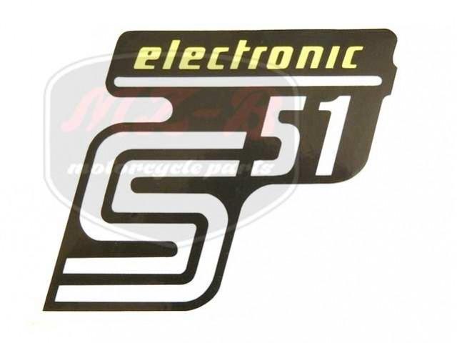 SIMSON UNIVERSAL SCHRIFTZUG FOLIE S51 ELEKTRONIC /GELB/