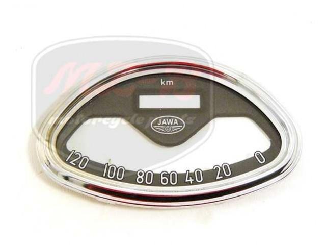 JAWA 250 TACHOMETER GLAS+ABDECKUNG /120 KM/H/