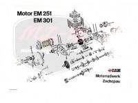 ETZ 250 EXPLOSIONSZEICHNUNG VOM MOTOR ETZ250