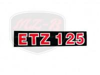 ETZ 125 SCHRIFTZUG FOLIE 125
