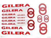 GILERA UNIVERSAL SCHRIFTZUG FOLIE SATZ GILERA ROT-SILBER