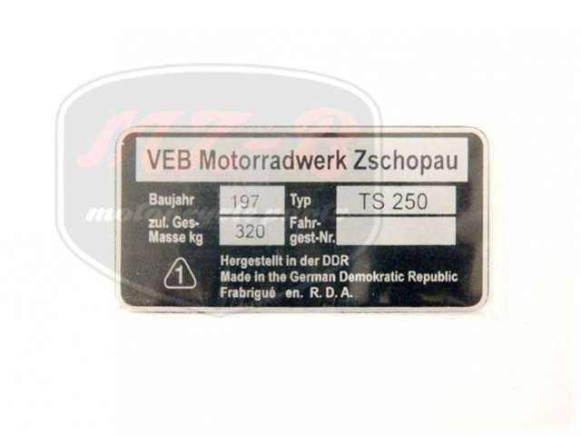 MZ/TS 250 TYPSCHILD /TS250/