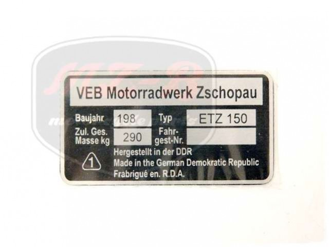 ETZ 150 TYPSCHILD /ETZ150/