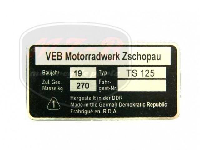 MZ/TS 125 TYPSCHILD /TS125/