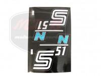 SIMSON 51 KLEBEFOLIE S51N PAAR/BLAU/